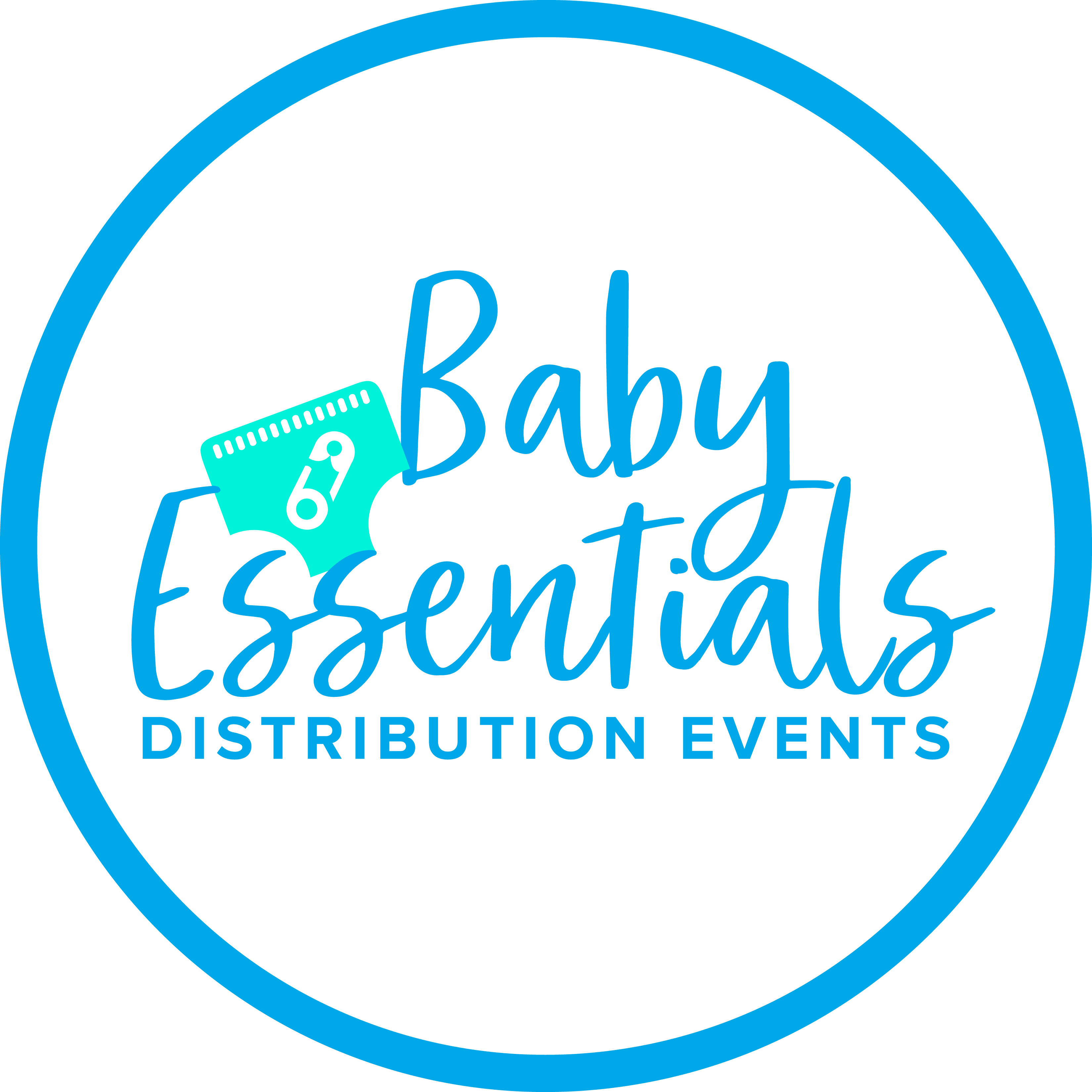 baby essentials distribution events circle logo